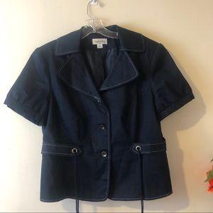 Isabella Denim Plus Size Chambray Blazer